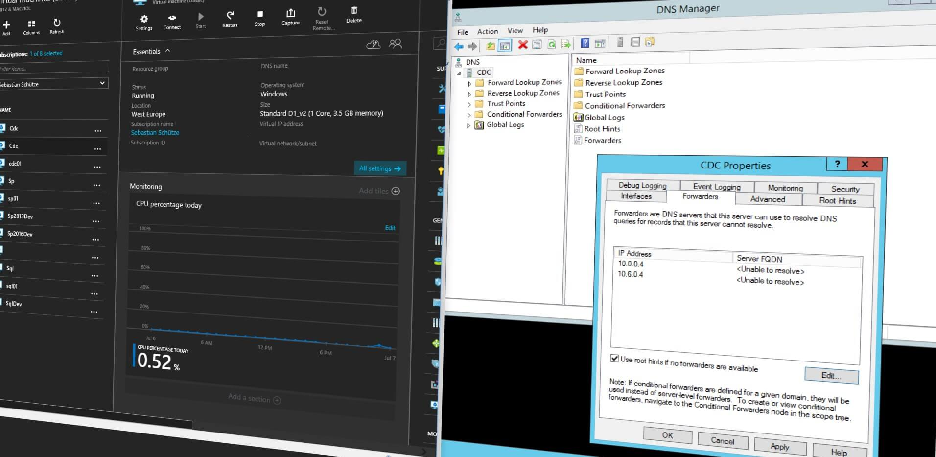 Solving Internet and DNS Problems in new Azure VMs