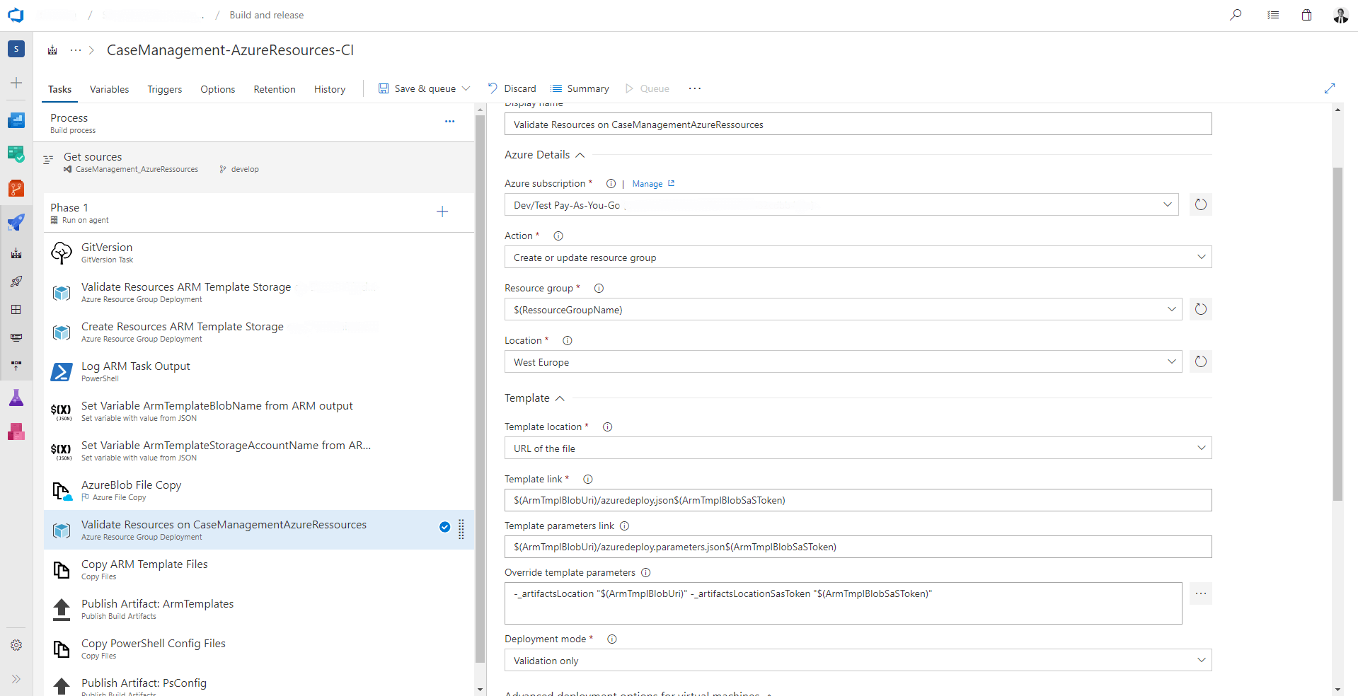 4 Tips for ARM-Templates in CI & CD Pipelines on Azure DevOps