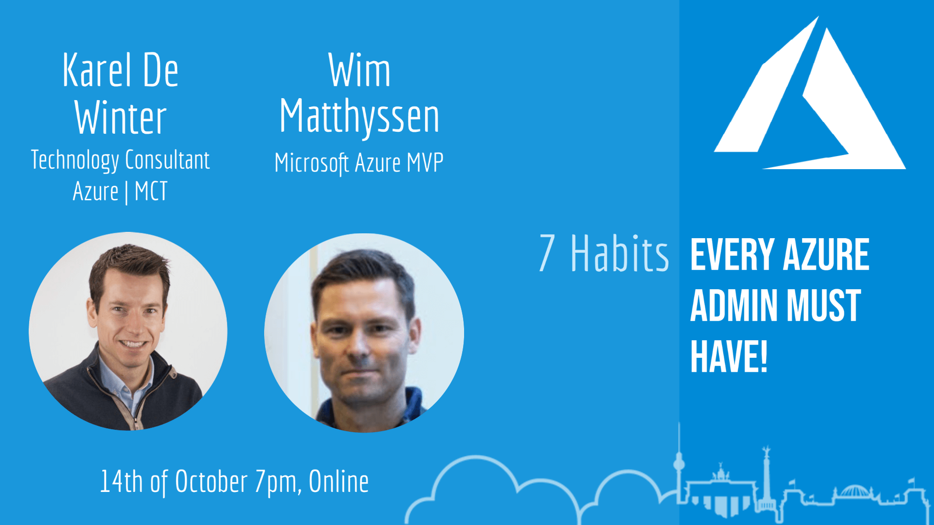 Latest Azure Meetup Berlin Recording: 7 Habits every Azure Admin must have!